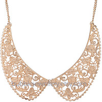 Bib Necklace,Collar Necklace,Metal Collar Necklace,Statement Necklace (Fn0551)