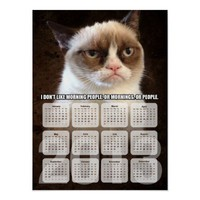 Grumpy cat calendar poster from Zazzle.com
