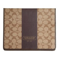 Amazon.com: Coach Heritage Stripe Coated Signature Heights Tablet Ipad Case 77261 Khaki Brown: Computers & Accessories