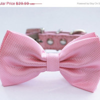 Pink Dog Bow Tie  Pink Dog Bow tie Chic and Elegent by LADogStore