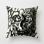 Skull Throw Pillow by Ali GULEC | Society6