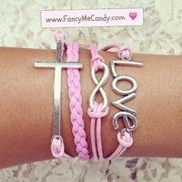 Pink Cross Love Infinity