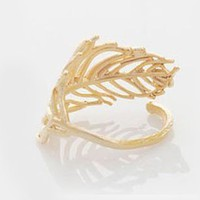 Elegant Cute Alloy Leaf Ring  from looback