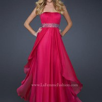 La Femme Dress 17523 at Peaches Boutique