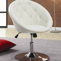 Amazon.com: Coaster 102583 Round-Back Swivel Chair, White: Home & Kitchen