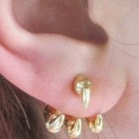 Gold Claw Earrings from New Spirit Boutique