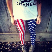 American Flag Leggings from New Spirit Boutique