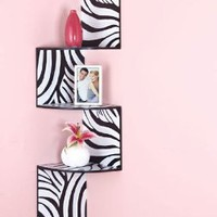 Amazon.com: Zebra Corner Wall Shelf: Home &amp; Kitchen