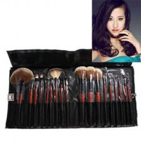 18PCS Roll-up Cosmetic Brush Portable Make-up Case Bag Kit Set Facial Care Product China Wholesale - Everbuying.com