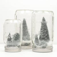 Rustic Holiday Snow Globe Mason Jar Snow Globe by WorleysLighting