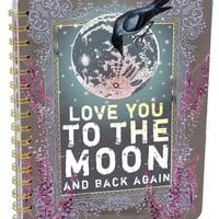 PAPAYA! Art Moon &amp; Back Spiral Notebook