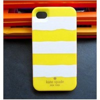 Amazon.com: Kate Spade iPhone 4/4S Resin Hard Case Rugby Stripe Style -Yellow/White: Cell Phones & Accessories