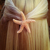 Starfish Hair Barrette by bearinmyhair on Etsy