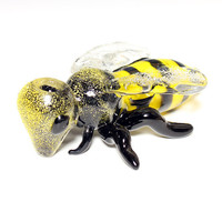 Glass Pipe -Honey Bee Pipe- MADE TO ORDER- Hedcraft Glassworks-
