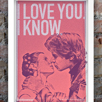 Star Wars Inspired Print (Heroes Series: HAN & LEIA) A3