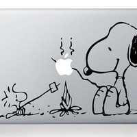 cook snoopy mac decal macbook decal sticker ipad by roshimody