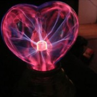 Plasma USB Light Sphere Heart Lover Party Gift