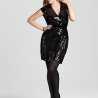 MICHAEL Michael Kors Plus Size Sequin Wrap Dress - New Arrivals - Plus Sizes - Plus Sizes - Bloomingdale's