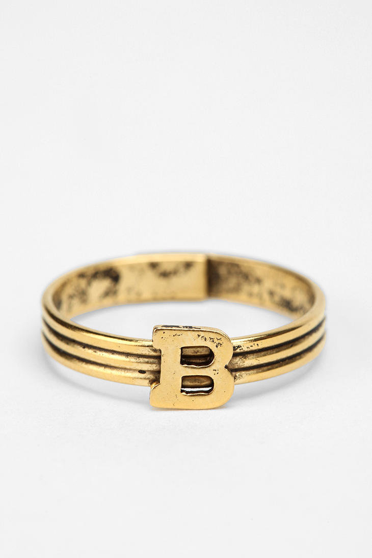 Urban Outfitters Stackable Initial Ring
