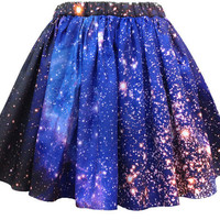 SMC Nebula Skirt Galaxy Print Organic Cotton by Shadowplaynyc