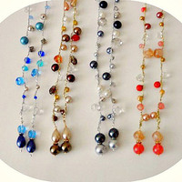 Crochet Beaded Lariats