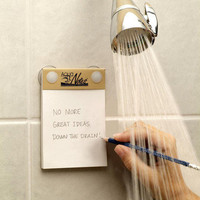 AquaNotes: Waterproof Shower Notepads