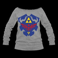 Hylian Shield Womens Wide Neck Sweatshirt S-XXL