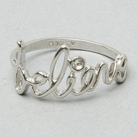 Disney Couture Jewelry The Believe Ring in Platinum : Karmaloop.com - Global Concrete Culture