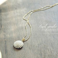 Elegant Sphere Faux Pearl Pendant Necklace at Online Cheap Fashion Jewelry Store Gofavor