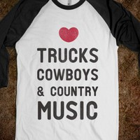 Trucks Cowboys & Country ( Baseball Tee) - Country is Where It's at