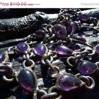 ON SALE Amethyst Necklace by Beijo Flor by BeijoFlor on Etsy