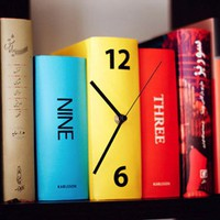 Book Clock - $35 | The Gadget Flow