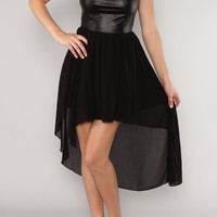 Chiffon Dress(leather)