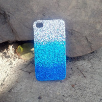 OCEAN glitter iphone 4 iphone 5 case glitter case  ombre faded case