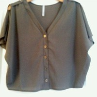 Army Green Blouse from Belle La Vie Boutique