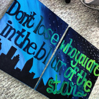 Two Canvas Quote Painting