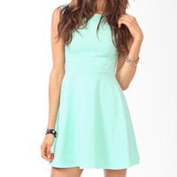 Curve Stitched Skater Dress