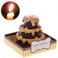 Delicate Three Layers Chocolate Cake Scented Craft Candle China Wholesale - Everbuying.com