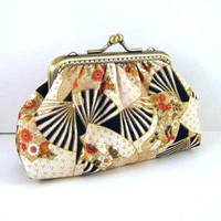 Asian Fan Frame Pouch - Brown Frame.. on Luulla