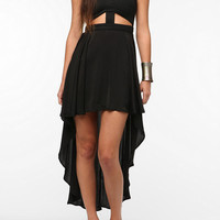 Reverse Cutout High/Low Dress