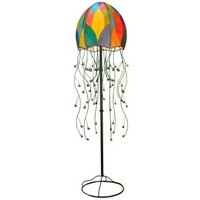 "Eangee Jellyfish Multicolor Cocoa Leaves 64"" High Floor Lamp 