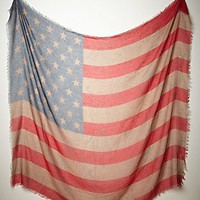 Free People Womens Tattered Flag Scarf - Taupe, One