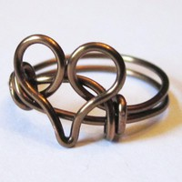 Antique Brass Heart Ring on Luulla