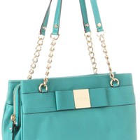 Kate Spade New York Primrose Hill-Zippered Darcy Satchel,Antique/Teal,One Size