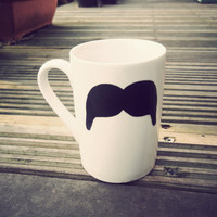 Mexican Moustache mug by Mr Teacup  handdrawn by MrTeacup on Etsy