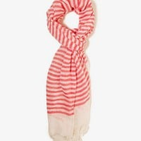 Frayed Striped Scarf | FOREVER 21 - 1030187539