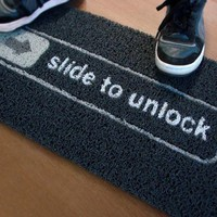Slide To Unlock Doormat - $35 | The Gadget Flow