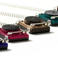 Retro To Go: Turntable pendants by Darkcloud Silver at Oye Modern