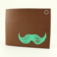 Mustache Wallet - Mint and Chip - The Ultimate Sweetness