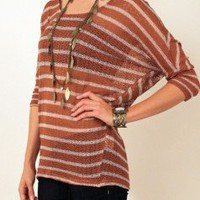 Candy Stripes Knit Sweater at Nectar Clothing